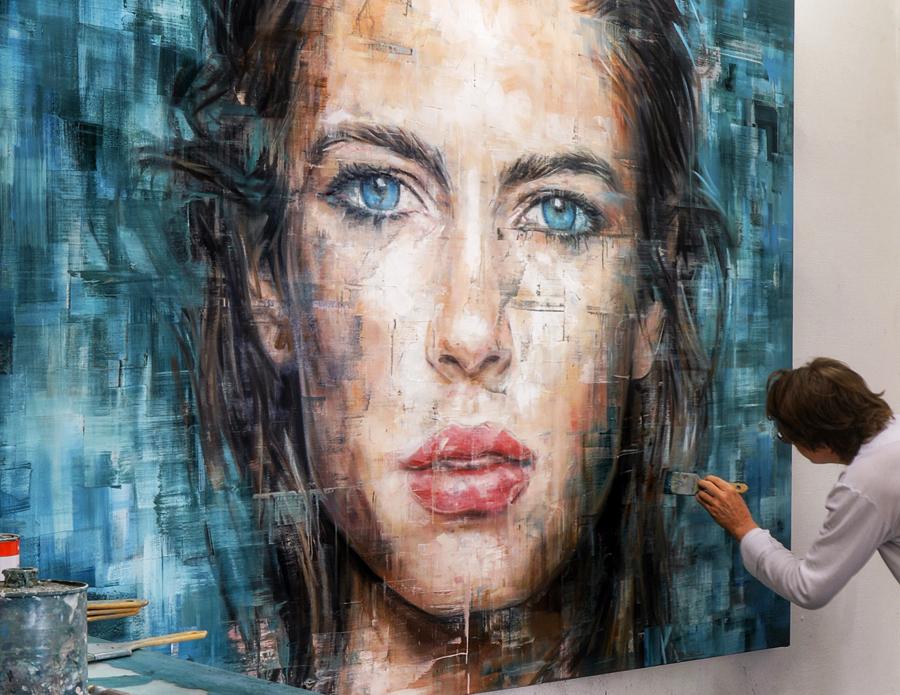 Harding Meyer pintando