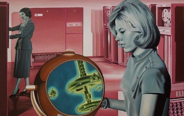 Adamo Dimitriadis, Retrofuturismo al óleo